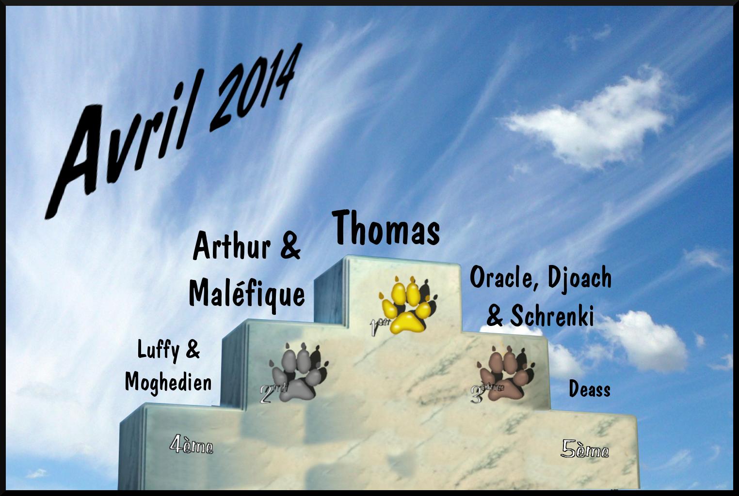 Les traces de pattes Podium_avril2014