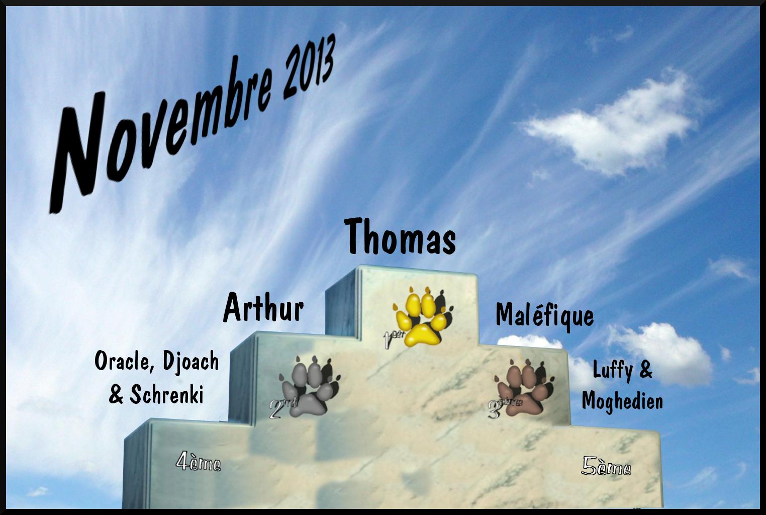 Les traces de pattes Podium_novembre2013
